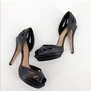 L.A.M.B peep toe platform heels